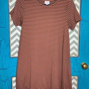 LuLaRoe small Carly striped black/brown